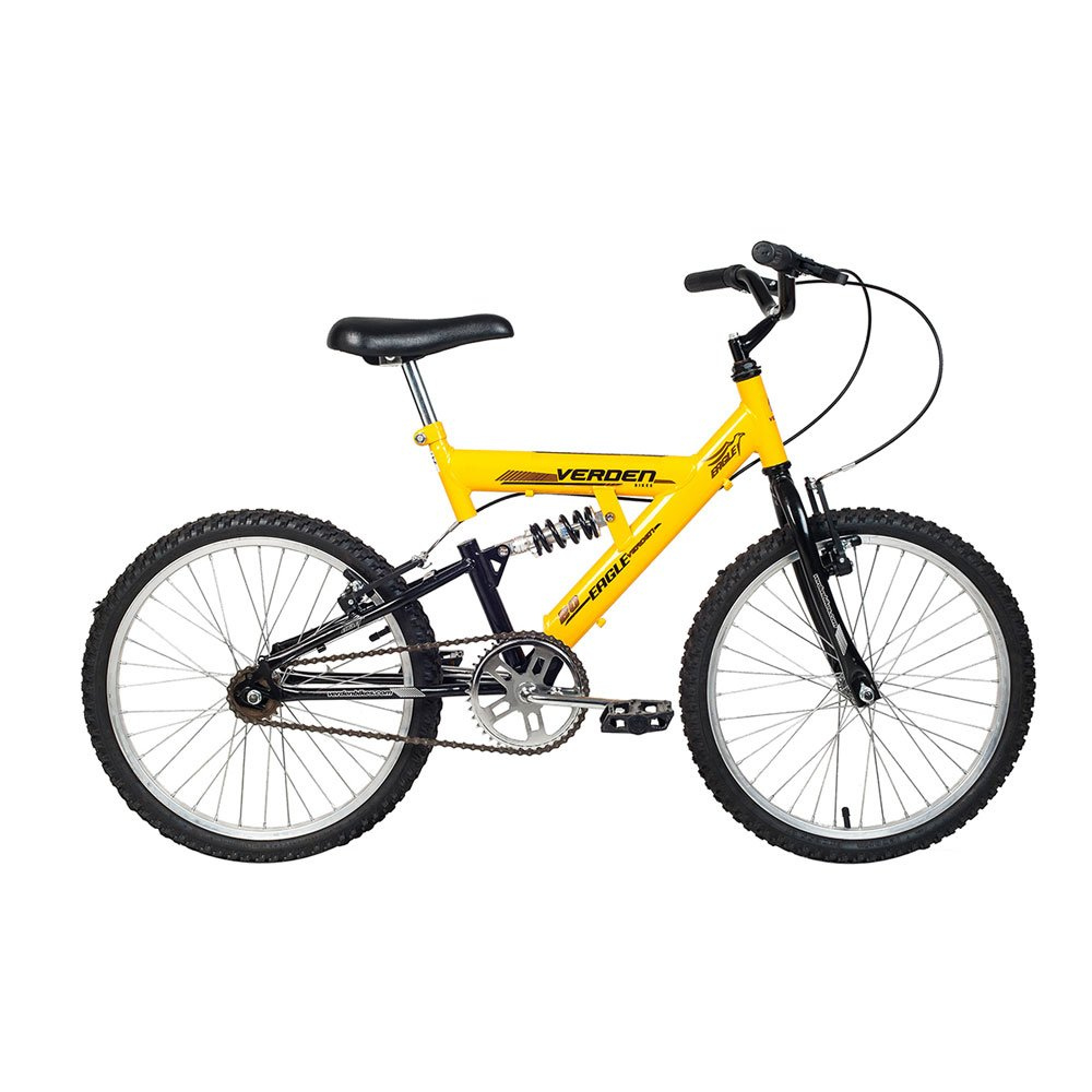 Bicicleta Infantil Aro 20 Eagle Amarela e Preta unidade Verden  UN