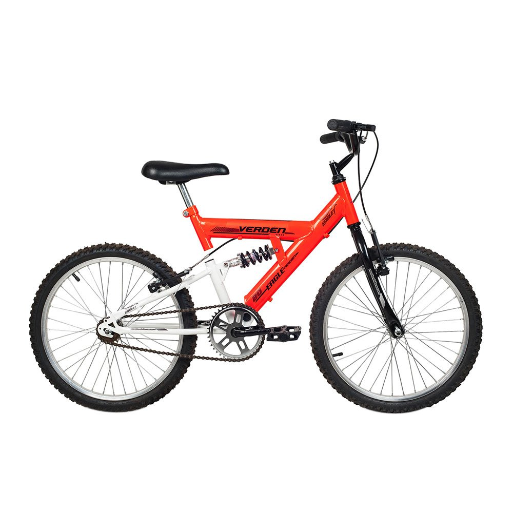 Bicicleta Infantil Aro 20 Eagle Laranja e Branca unidade Verden  UN