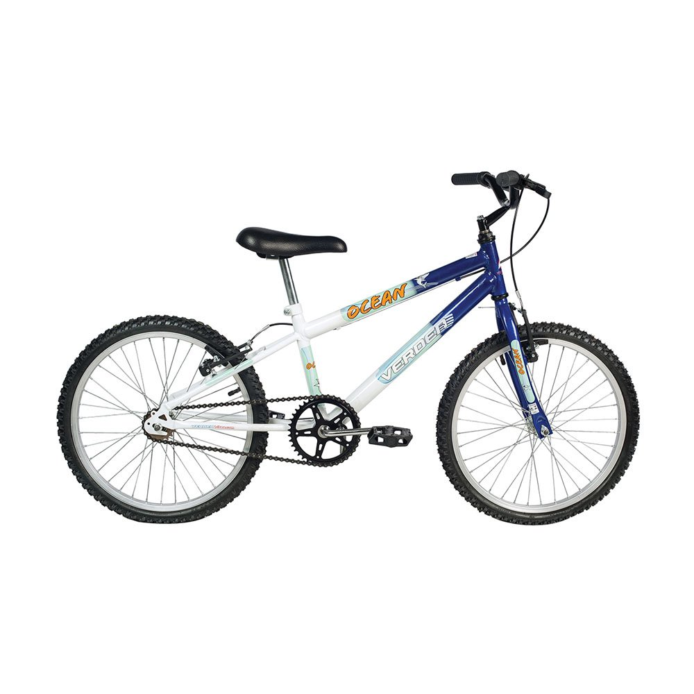 Bicicleta Infantil Aro 20 Ocean Azul e Branca unidade Verden  UN