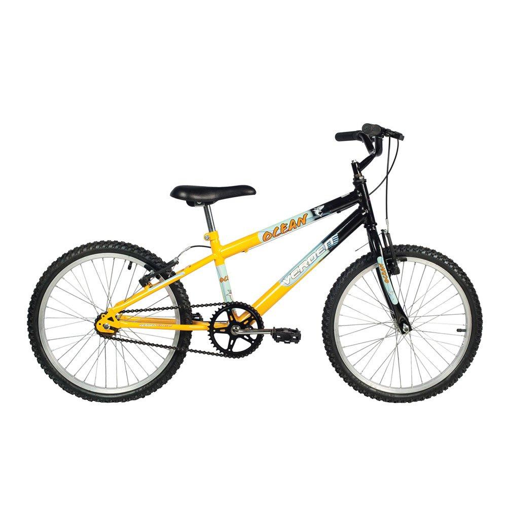 Bicicleta Infantil Aro 20 Ocean Preta e Amarela unidade Verden  UN