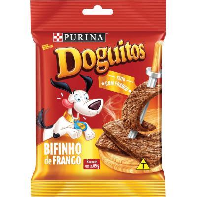 Bifinho para Cães sabor Frango 65g Doguitos  pacote PCT