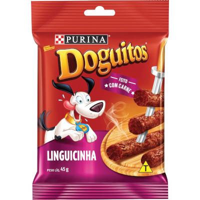 Bifinho para Cães sabor Linguicinha 45g Doguitos pacote PCT