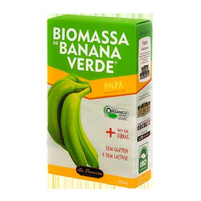 Biomassa de banana verde polpa 250g La Pianezza caixa UN