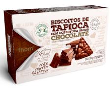 Biscoito de tapioca com chocolate 60g Fhom  UN