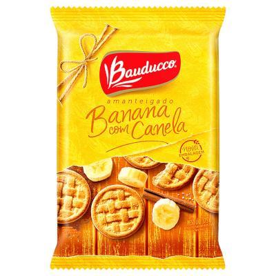 Biscoito doce amanteigado banana e canela 375g Bauducco pacote PCT