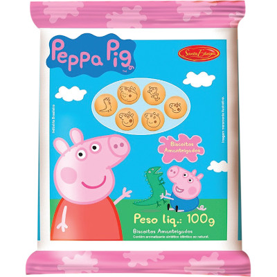 Biscoito doce amanteigado chocolate 100g Peppa Pig/Sta Edwiges pacote PCT