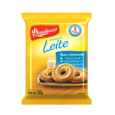 Biscoito doce amanteigado leite 335g Bauducco pacote PCT