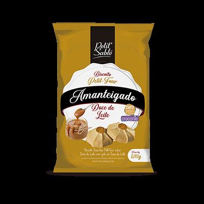 Biscoito Doce Amanteigado Doce de Leite 120g Petit Sablé/Petit Four pacote PCT