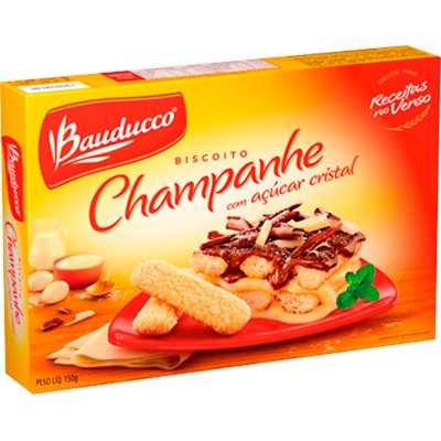 Biscoito Doce champagne açúcar cristal 150g Bauducco caixa UN