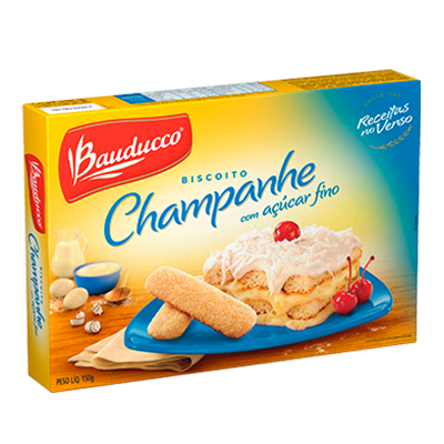 Biscoito Doce champagne açúcar refinado 150g Bauducco pacote PCT