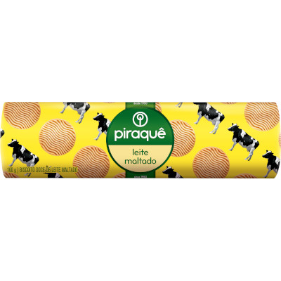 Biscoito doce Leite Maltado 160g Piraquê pacote PCT