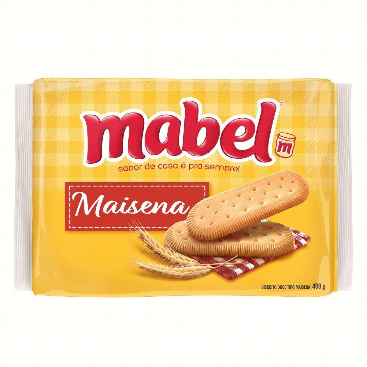 Biscoito doce maizena 400g Mabel pacote PCT