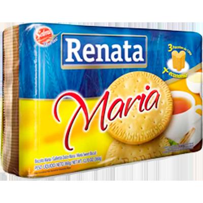 Biscoito doce maria 360g Renata pacote PCT