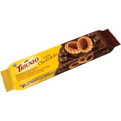 Biscoito doce sabor chocolate tortini 90g Triunfo pacote PCT