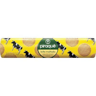Biscoito doce sabor leite maltado 200g Piraquê pacote PCT