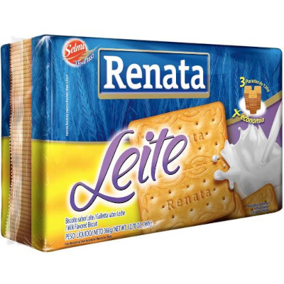 Biscoito doce sabor leite 360g Renata pacote PCT