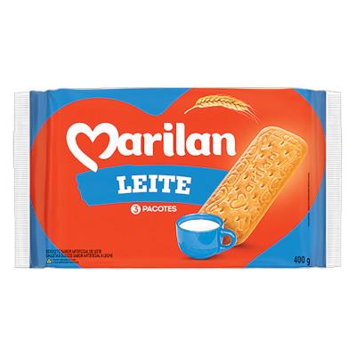 Biscoito Doce sabor leite 400g Marilan pacote PCT