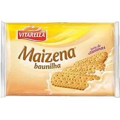 Biscoito doce sabor maizena e baunilha 400g Vitarella pacote PCT