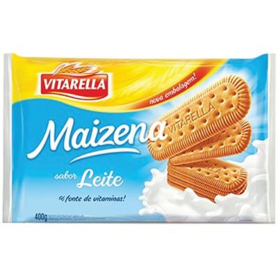 Biscoito doce sabor maizena e leite 400g Vitarella pacote PCT