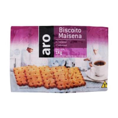 Biscoito doce sabor maizena 1kg Aro pacote PCT