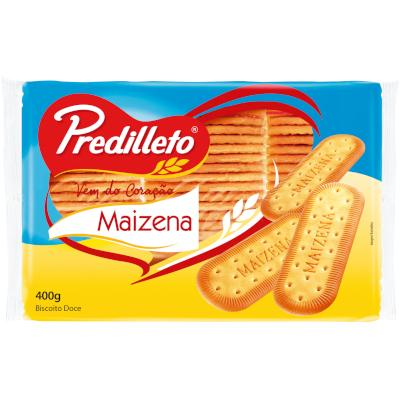 Biscoito doce sabor maizena 400g Predilleto pacote PCT