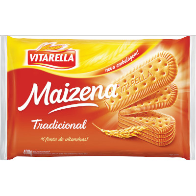 Biscoito doce sabor maizena 400g Vitarella pacote PCT