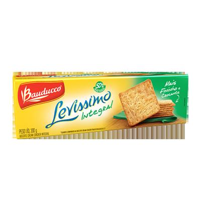 Biscoito integral cream cracker integral 200g Levíssimo Bauducco pacote PCT