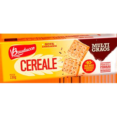 Biscoito integral multigrãos 130g Bauducco/Cereale pacote PCT