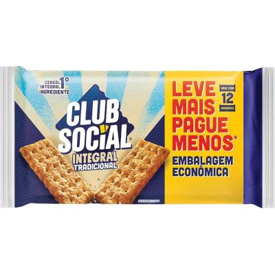 Biscoito Integral  288g Club Social pacote PCT