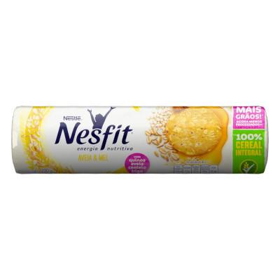 Biscoito integral sabor aveia e mel 200g Nesfit pacote PCT