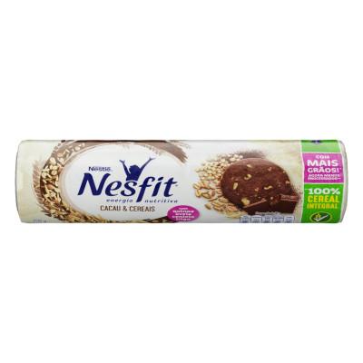 Biscoito Integral Sabor Cacau e Cereais 200g Nesfit pacote PCT