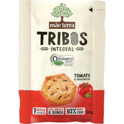 Biscoito integral sabor tomate e manjericão 50g Mãe Terra pacote PCT