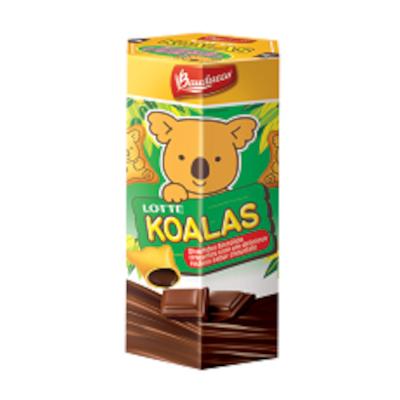 Biscoito mini recheado com chocolate 37g Bauducco/Koalas caixa PCT