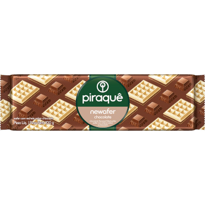 Biscoito Newafer sabor chocolate 100g Piraquê pacote PCT