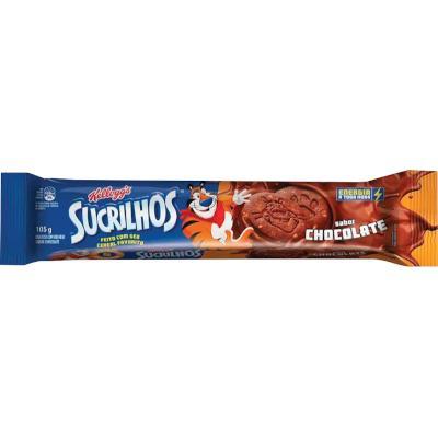 Biscoito Recheado sabor Chocolate 105g Kelloggs/Sucrilhos pacote PCT