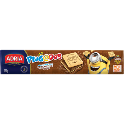 Biscoito recheado chocolate 130g Adria/Plugados pacote PCT