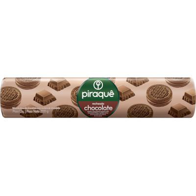 Biscoito recheado chocolate 200g Piraquê pacote PCT