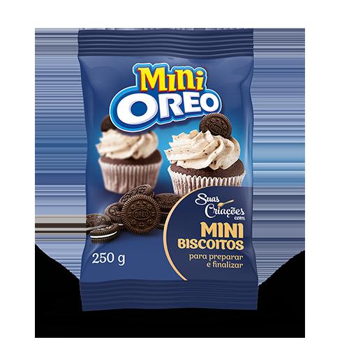 Biscoito recheado mini Oreo 250g Mondelez/Suas Criações pacote PCT