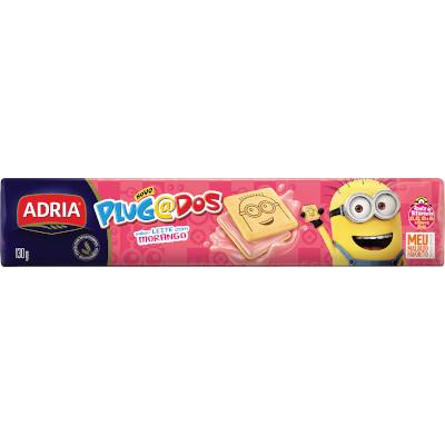 Biscoito recheado morango 130g Adria/Plugados pacote PCT