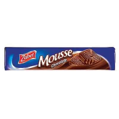 Biscoito Recheado sabor Mousse de Chocolate 145g Zabet pacote PCT