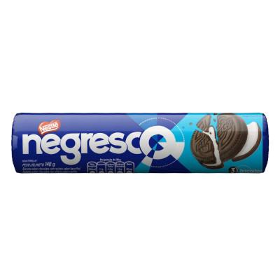 Biscoito Recheado sabor Chocolate com Baunilha 140g Negresco pacote PCT