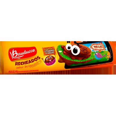 Biscoito Recheado sabor Brigadeiro 104g Bauducco pacote PCT