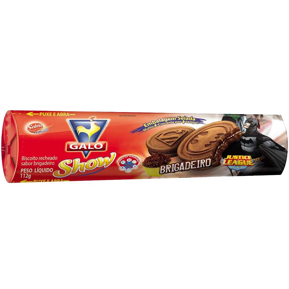 Biscoito Recheado sabor Brigadeiro 112g Galo pacote PCT