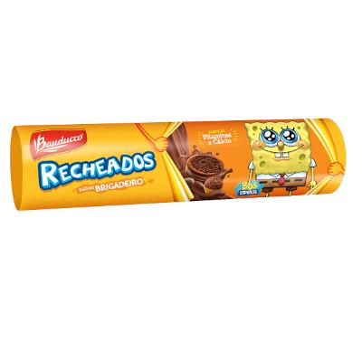 Biscoito recheado sabor brigadeiro 140g Bauducco/Recheados pacote PCT
