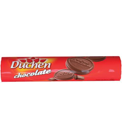 Biscoito recheado sabor chocolate 135g Duchen pacote PCT