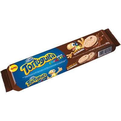 Biscoito Recheado sabor Chocolate 86g Arcor/Tortuguita pacote PCT