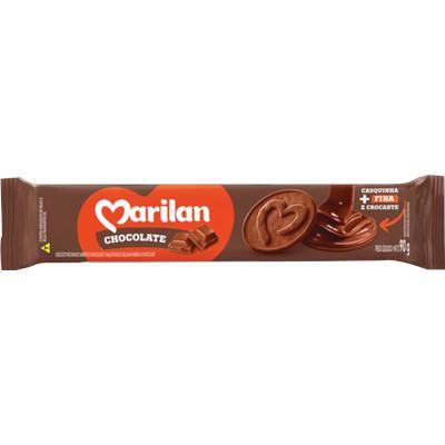 Biscoito Recheado  sabor Chocolate 90g Marilan pacote PCT