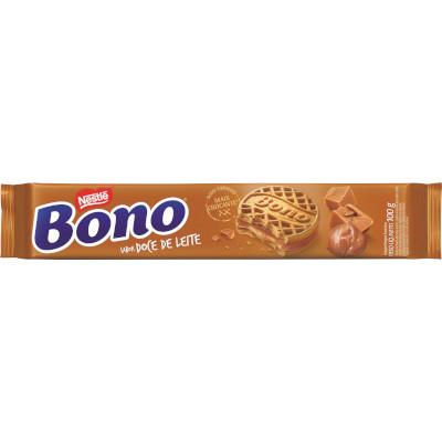 Biscoito recheado sabor doce de leite 100g Nestlé/Bono pacote PCT