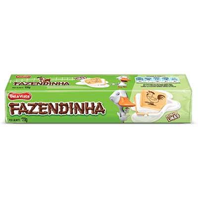 Biscoito Recheado sabor Limão 130g Fazendinha pacote PCT