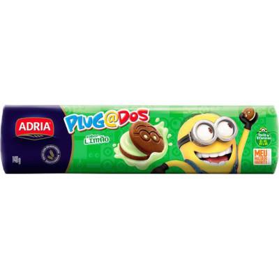 Biscoito recheado sabor limão 140g Adria/Plugados pacote PCT